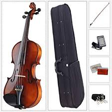 ADM Acoustic Violin 4/4 Full Size with Hard Case ... - Amazon.com
