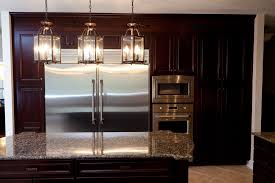 Lantern Lights Over Kitchen Island Simple Lantern Style 3 Light Kitchen Island Lighting Triple