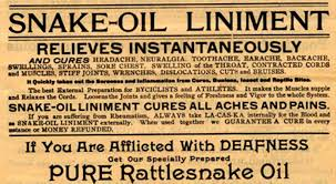 yesterday s papers quackery self medication and reckless 5 snake oil advertisement