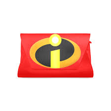Leather Designer Clutch Bag with The Incredibles logo – Psylockebags