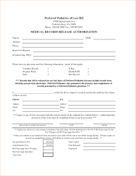 Medical Records Release Form Example Release For Medical Records Form Fresh Release Of Records Form 3