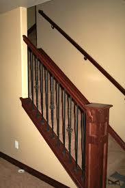 basement stairs railing. Wood Basement Stairs Railing W