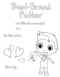Best grandfather certificate coloring pages - Hellokids.com