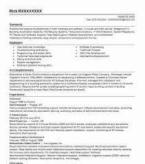 Technical Resume Amazing EyeGrabbing Technical Resumes Samples LiveCareer