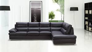 Black Leather Sectional Sofa Design Ideas EVA Furniture