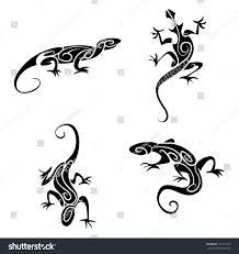 Lizard Tribal Tattoo Stock Illustration 337416710 Shutterstock