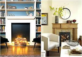 fake brick fireplace decoration ideas brilliant decorating in front of greatest design for stoves white faux