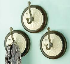 medallion wall hook set of 3 ceramic