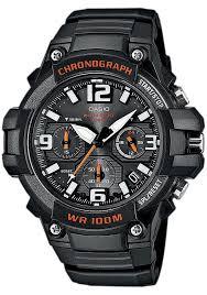 <b>Часы мужские</b> наручные <b>Casio</b>, цвет: черный, оранжевый. <b>MCW</b> ...