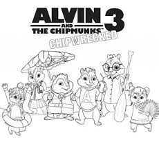 Small Picture Alvin And The Chipmunks Coloring Pages intended for Your own home