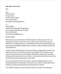 officer cover letter banking cover letter template