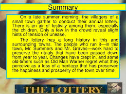 the lottery by shirley jackson summary essay sample research   shirley jackson essay 799 words the lottery summary
