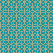 Trellis Teal Blauw Groen Goud 110381 De Mooiste Muren