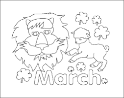 Small Picture March Calendar Month Coloring Page
