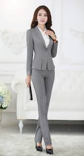 17 best ideas about women s pant suits pant suits formal pant suits for women business suits for work wear sets gray blazer ladies office uniform