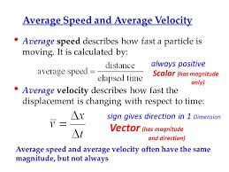 average sd and average velocity