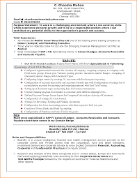 Sap Resume Samples For Freshers Free Resume Example And Writing