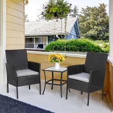 vongrasig 3 piece porch furniture sets