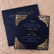 Indian Wedding Card Designs With Price Gulshan Blue Wedding Islamic Cards Add A Touch Of Elegance