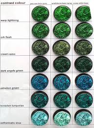 Games Workshop Paint Chart Contrast Paints Real World Comparison Bell Of Lost Souls