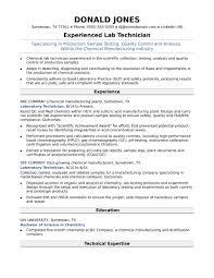 Midlevel Lab Technician Resume Sample Lab Tech Resume Resume Samples