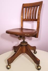 wh locke antique office chair wayland ny 1920s vintage oak swivel tilt back 1 of 12only 1 available