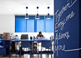 office blue. Apostrophy\u0027s Adds Vivid Primary Colors To \u0027apos 2\u0027 Office In Thailand Blue U