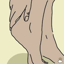 Image result for cartoon foot scrubbing