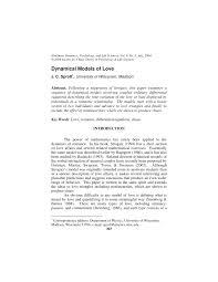 pdf dynamical models of love