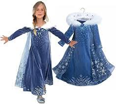 Ruimin Princess Girls Blue Snow Queen Elsa ... - Amazon.com