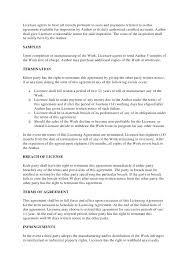 Terms Of Agreement Contract Template – Kensee.co