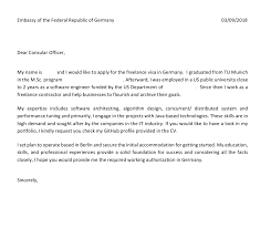 Visa Application Cover Letter Cover Letter For The German Freelance Visa All About