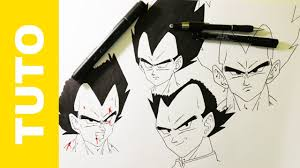 Tutorial How To Draw Drawing Vegeta Step By Step Dragon Ball Z