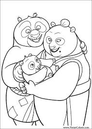Tekeningen Te Schilderen Kleur Kung Fu Panda 2 Print Design 035
