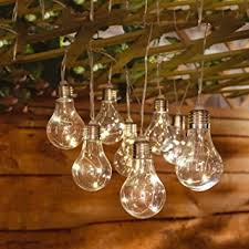 Solalite 10 Solar Powered Bulb String Lights Indoor Outdoor Fairy