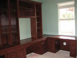 built in home office cabinets. Medium Maple Home Office Cabinets Built In