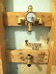 pex shower valves shower valves installing a shower valve with unique winters bathroom renovation day 4