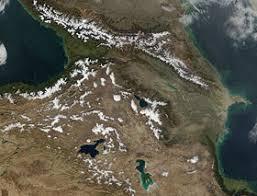 Кавказские горы Википедия Большой и Малый Кавказ Закавказье Снимок НАСА