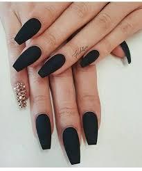 Matte Black More Nails Uñas De Acrilico Elegantes Uñas Negras