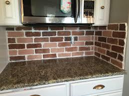Brick Backsplash Kitchen Do It Yourself Brick Veneer Backsplash Remington Avenue