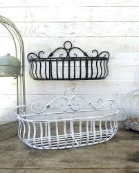 metal hanging baskets for plants wall basket kitchen home decor distressed black fruit plant holder stands