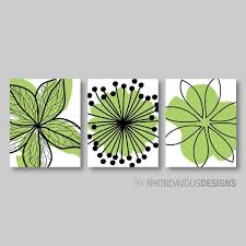 lime green black flower print trio home by rhondavousdesigns2 on lime green bathroom wall decor with bedroom wall decor bedroom decor bedroom wall art master bedroom