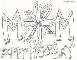 Small Picture Mothers Day Coloring Pages Doodle Art Alley