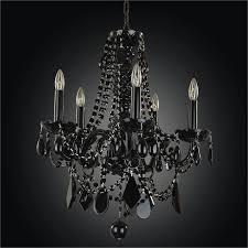 black tie glow black crystal arm chandelier 583jd5lbk 7j