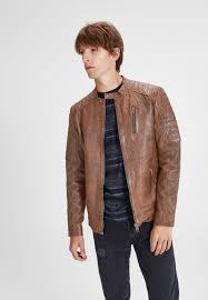 jjvrichard leather jacket brown