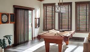 dark wood blinds and vertical wood blinds door