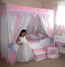Princess Canopy Bed Kids With Also Girls Diy