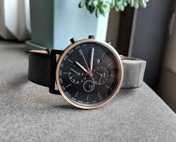 men s skagen world time black leather band watch skw6300