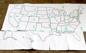 Map Quilt Tutorial - Discount Designer Fabric - Fabric.com & Step 2: Cut apart the states. I cut down the center of the thick black  line, but you can do it any way you'd like. Begin cutting out your states. Adamdwight.com