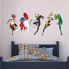 five superheroes decal mural sticker
